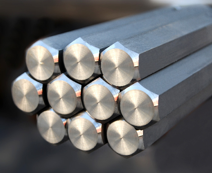 Hot-rolled steel hexagon. Steel gauged hexagon bar