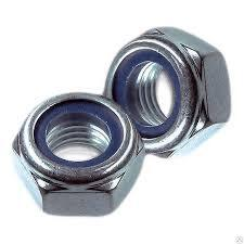 Hex nuts with locking ring DIN 985